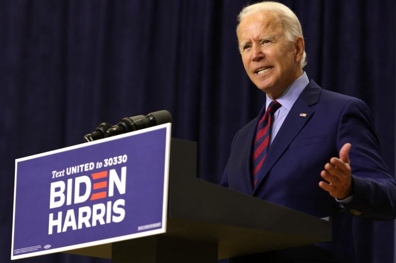 Joe Biden, lors d'un discours le 4 septembre 2020, à Wilmington, Delaware.
