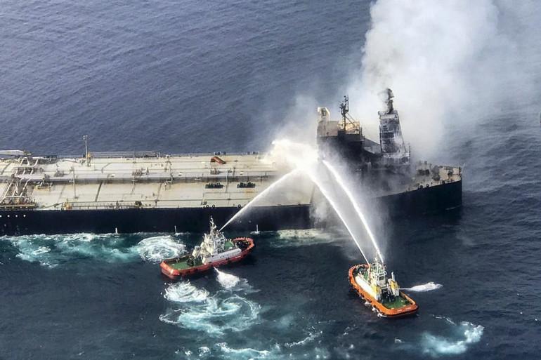 Un pétrolier panaméen a été touché par un incendie au large du Sri Lanka