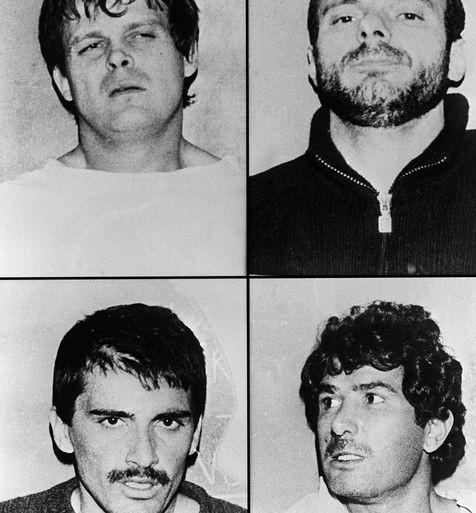 Montage de portraits datant de 1986 de Jean-Claude Myszka, Patrick Geay, Gianluigi Esposito et André Bellaiche.