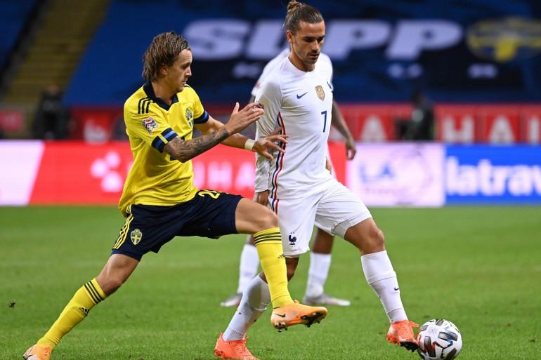 Antoine Griezmann contre la Suède, le 5 septembre 2020 à Solna