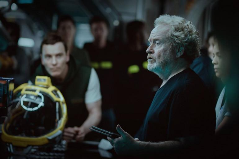 """Ridley Scott et Michael Fassbender sur le tournage d'""""Alien : Covenant"""""""