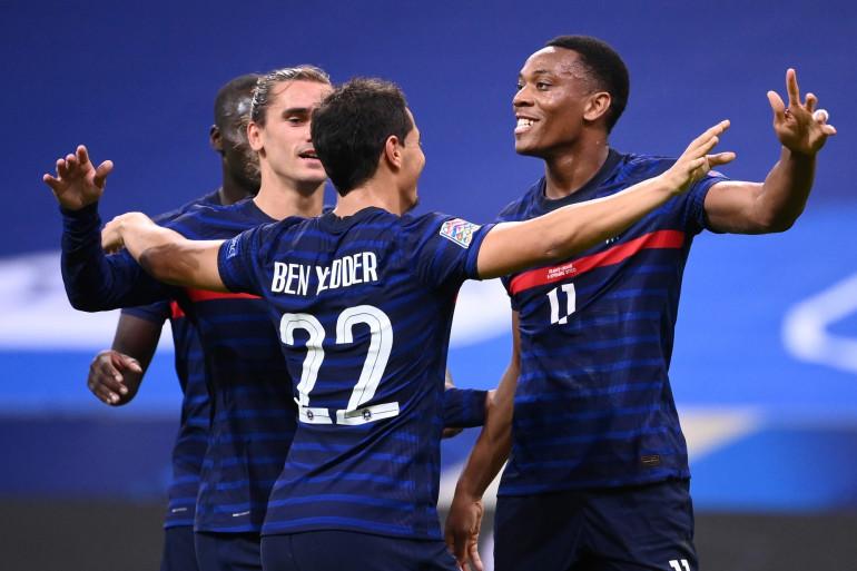 Ben Yedder, Martial et Griezmann face à la Croatie le 8 septembre 2020