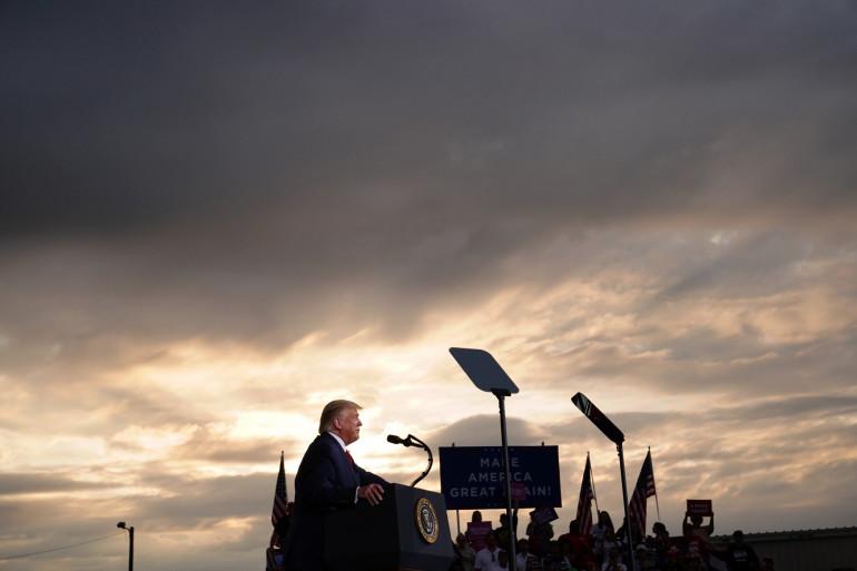 Le président américain Donald Trump lors d'un discours à Winston-Salem (Caroline du Nord), le 8 septembre 2020.