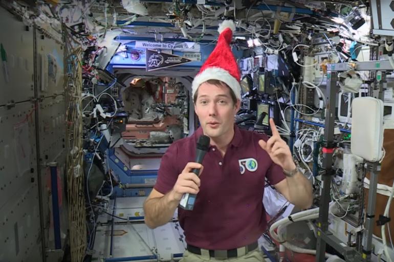 Thomas Pesquet, l'astronaute français à bord de la Station spatiale internationale (ISS).