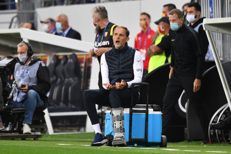 L'entraîneur du PSG Thomas Tuchel, à Lens, jeudi 10 septembre