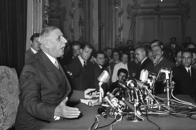 Le général de Gaulle, le 13 mai 1958 à Alger