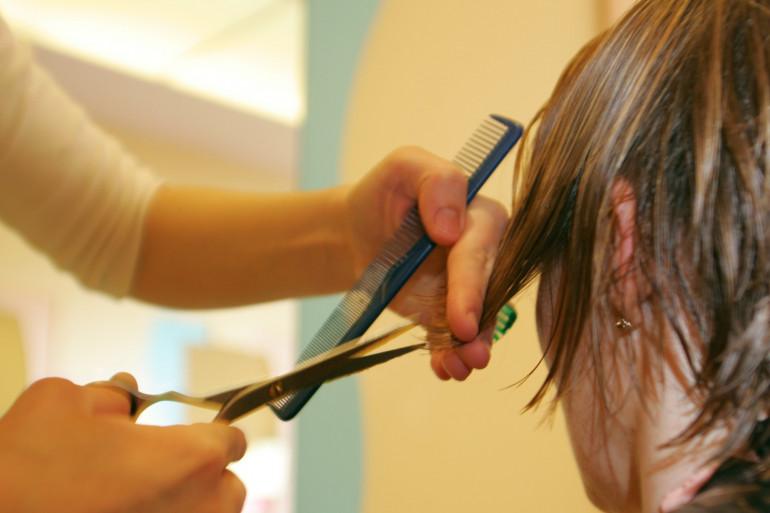 Illustration d'un salon de coiffure
