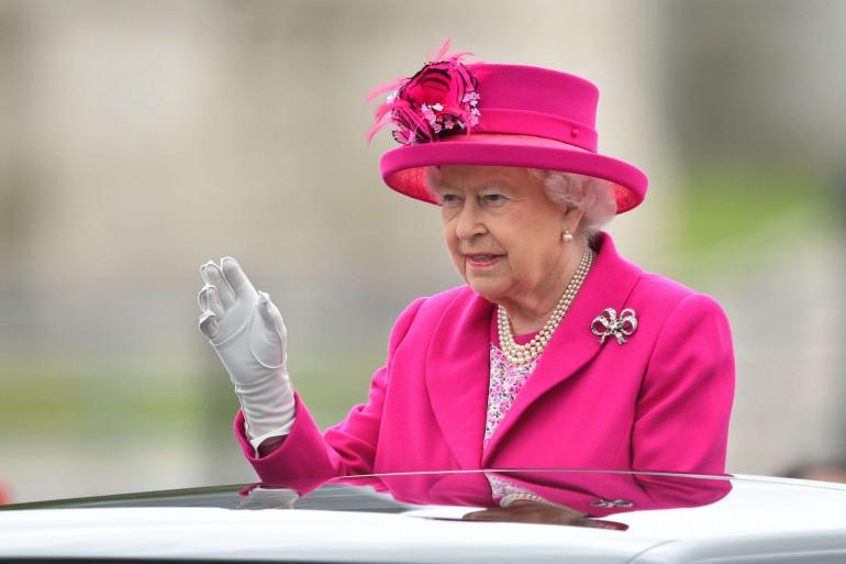 La reine Elizabeth II lors des festivités organisées pour son 90ème anniversaire, le 12 juin à Londres