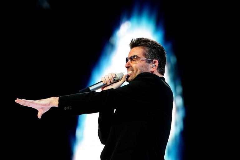 George Michael sur scène à Amsterdam, en juin 2007.