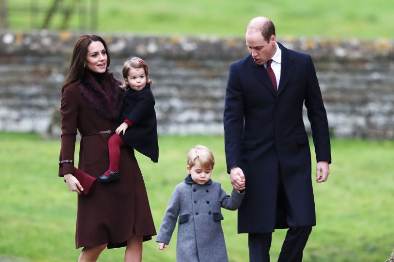 William, Kate et leurs deux enfants ont assisté tous les quatre à la messe de Noël.