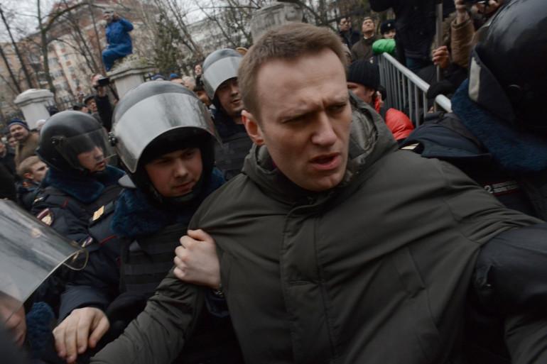 Le principal opposant à Vladimir Poutine, Alexeï Navalny, le 24 février 2014 à Moscou.