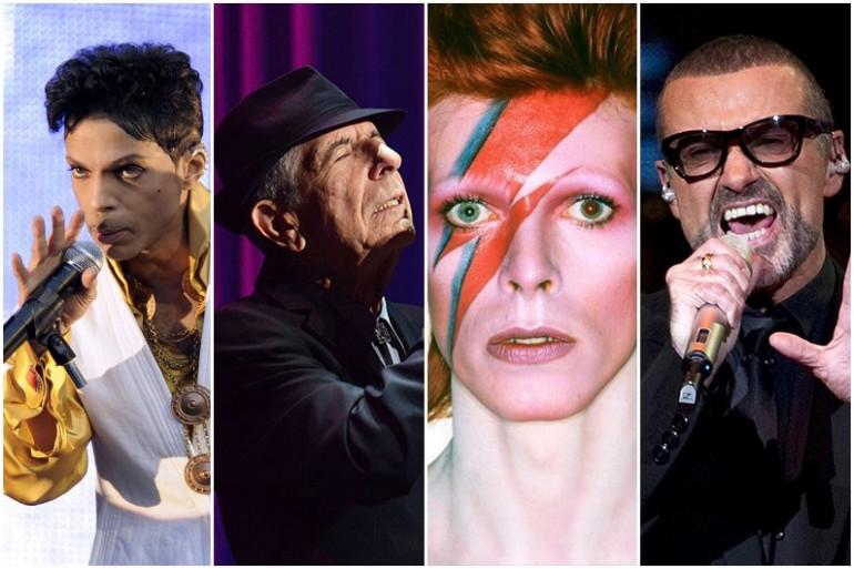 Prince, Leonard Cohen, David Bowie ou encore George Michael ont disparu en 2016
