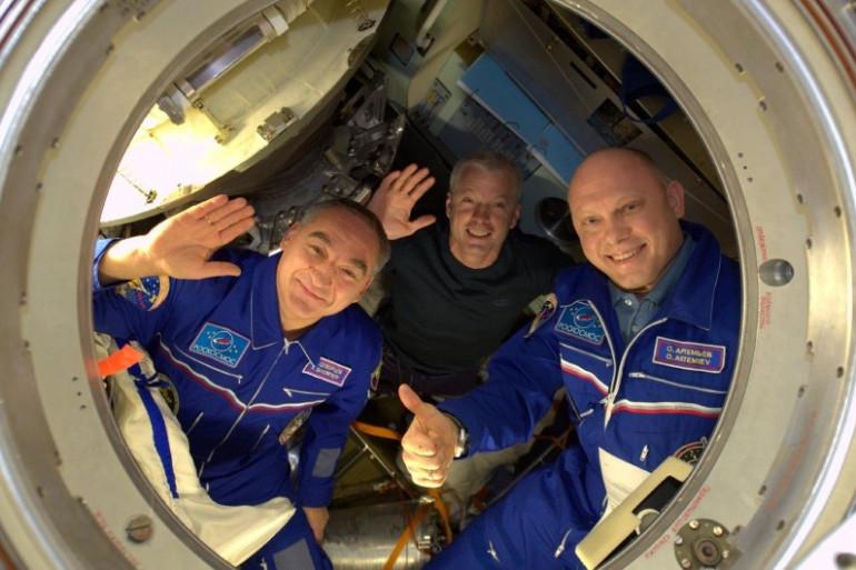 Des astronautes en mission sur l'ISS en septembre 2014