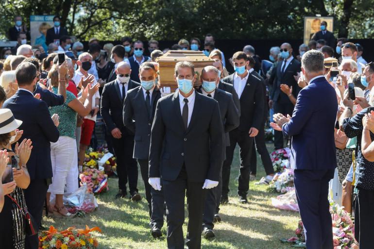 Les funérailles d'Annie Cordy, le 12 septembre 2020, à Cannes.