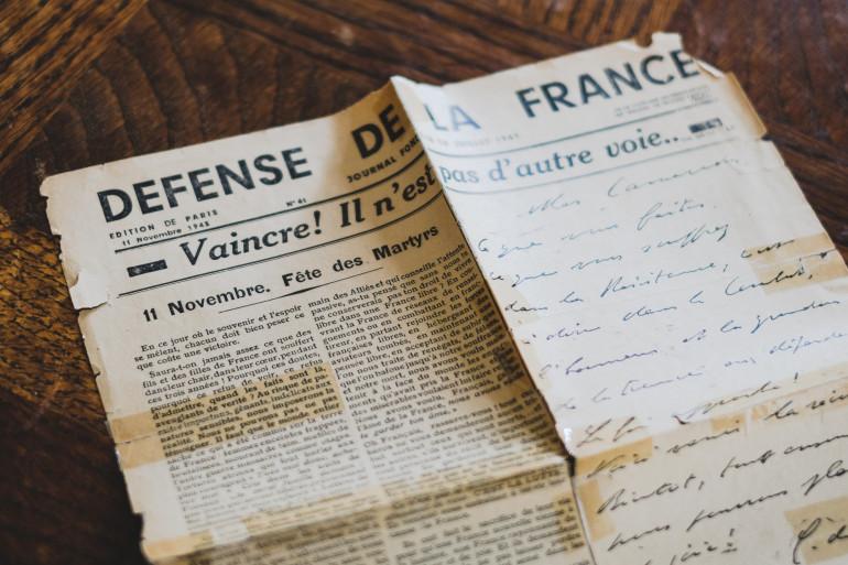 llustration de journaux durant la seconde guerre mondiale.