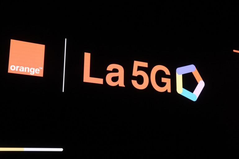 Le logo de la 5G chez l'opérateur Orange (illustration)