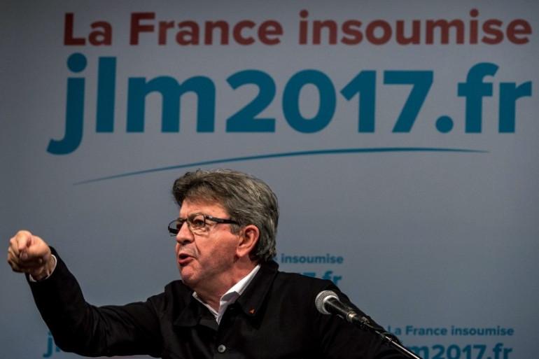"""Porte-parole de la """"France insoumise"""", Jean-Luc Mélenchon est candidat à l'élection présidentielle."""
