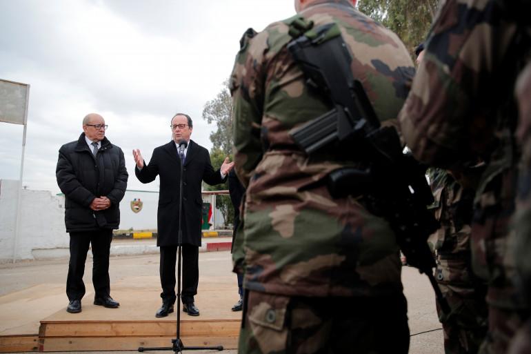 François Hollande, lors d'un déplacement en Irak le 2 janvier 2017