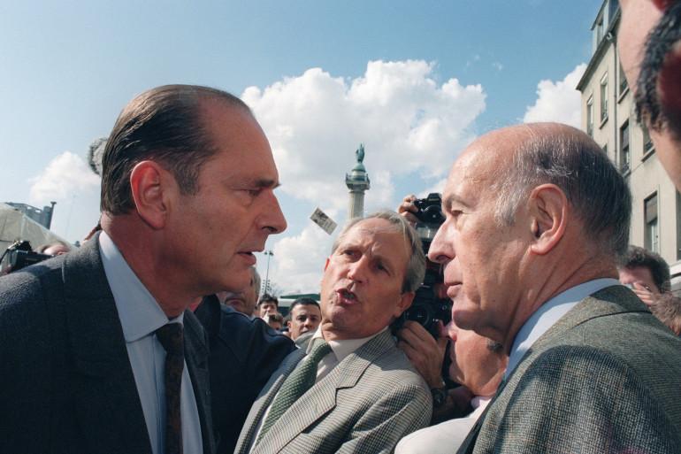 Jacques Chirac et Valéry Giscard d'Estaing, le 29 septembre 1991