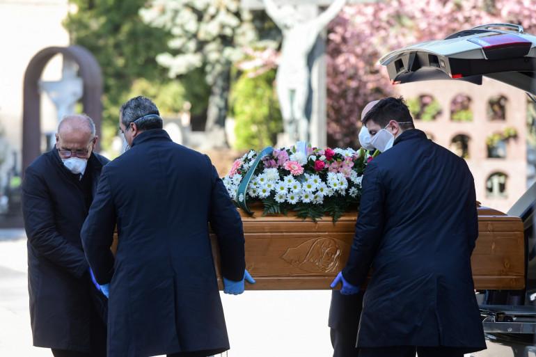 Un enterrement pendant l'épidémie de coronavirus (illustration)