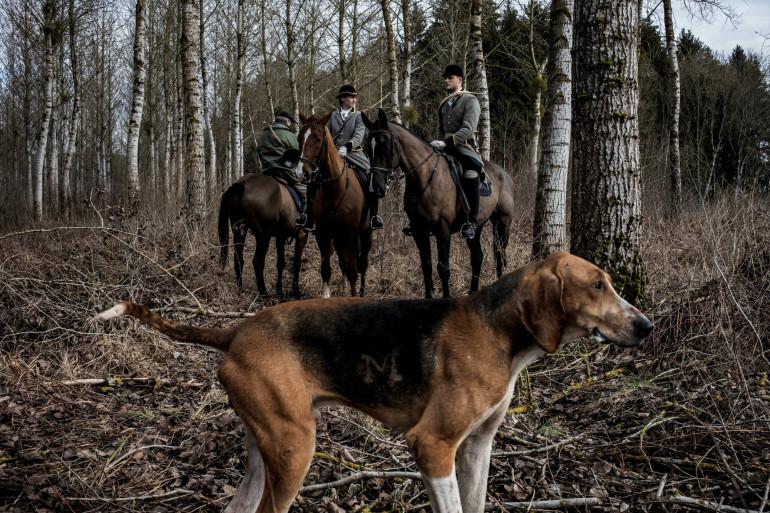 Des chasseurs à courre (France)