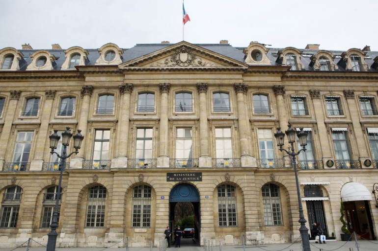 Le ministère de la Justice, place Vendôme à Paris, le 25 mars 2010 (illustration)