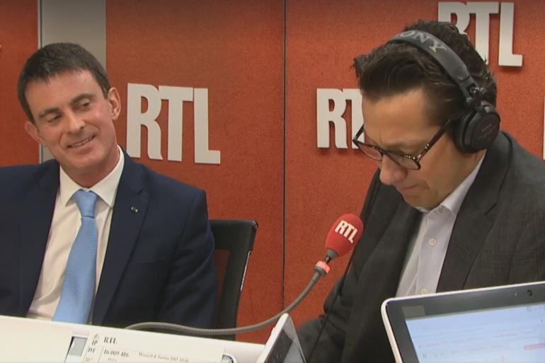 Manuel Valls au côté de Laurent Gerra, le 4 janvier 2017