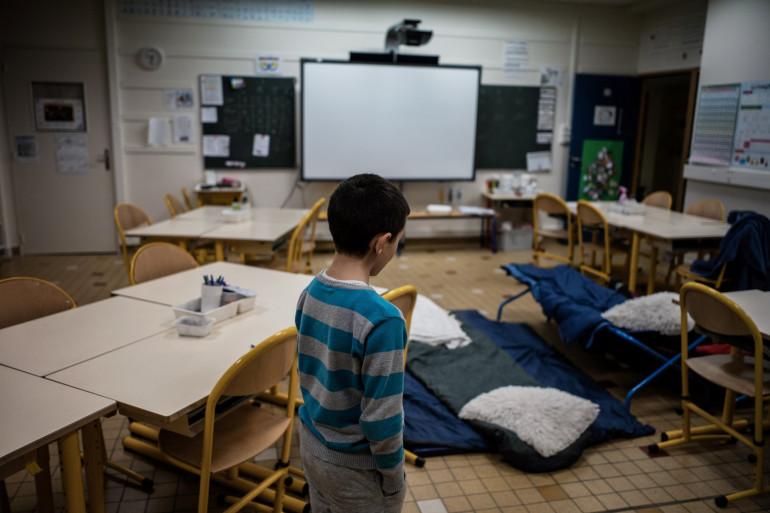 Un enfant sans-abri (illustration)