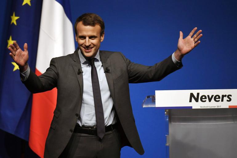 Emmanuel Macron en meeting à Nevers le 6 janvier 2017.