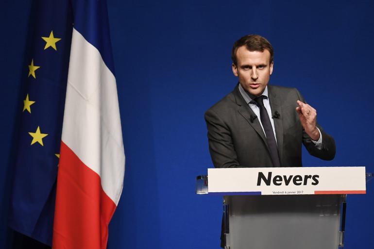 Emmanuel Macron à Nevers, le 6 janvier 2017