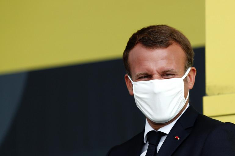 Emmanuel Macron portant un masque, le 16 septembre 2020 (illustration)