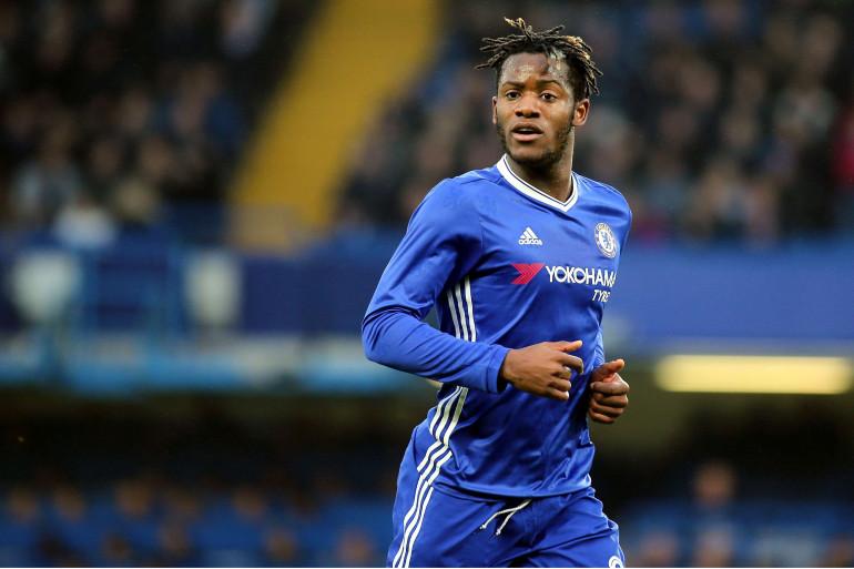 L'attaquant belge Michy Btshuayi sous les couleurs de Chelsea le 8 janvier 2017