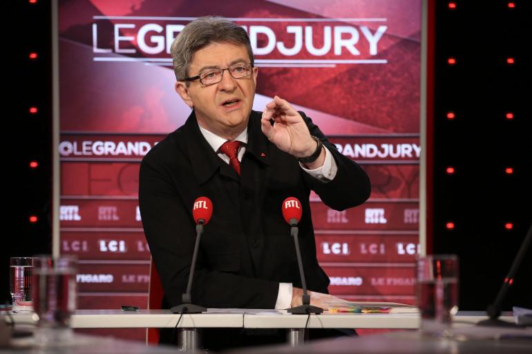 Jean-Luc Mélenchon sur le plateau du Grand Jury RTL-Le Figaro-LCI dimanche 15 janvier 2017.