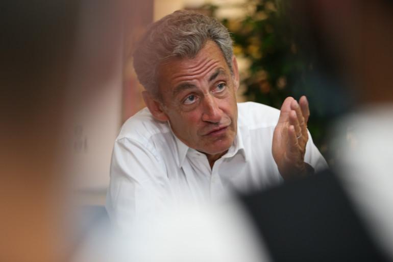 L'ex-président de la République Nicolas Sarkozy en juillet 2020 à Ajaccio (Corse)