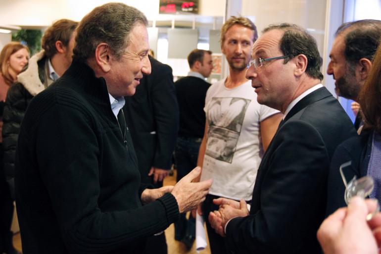 Michel Drucker et François Hollande en 2012 (illustration)