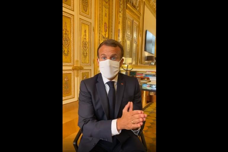 Emmanuel Macron confirme le doublement de la durée du congé paternité, le 23 septembre 2020