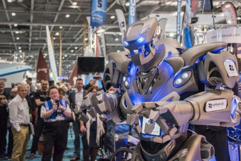 Le robot Titan en exposition à Londres, le 7 janvier 2017