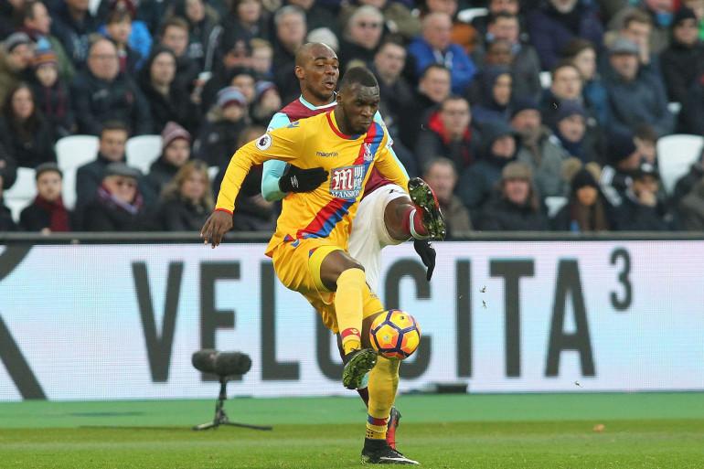 Christian Benteke sous les couleurs de Crystal Palace en janvier 2017