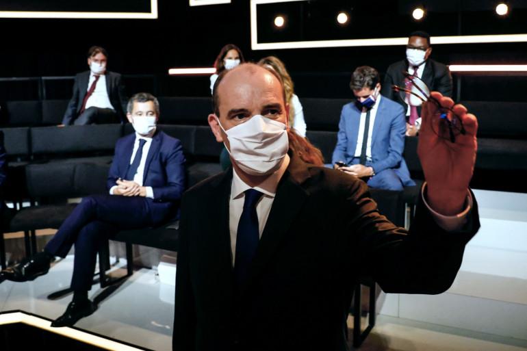 Jean Castex était l'invité de Léa Salamé et Thomas Sotto, sur France 2, le jeudi 24 septembre 2020.