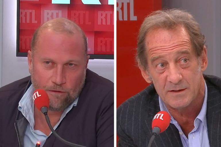 François Damiens et Vincent Lindon dans les studios de RTL