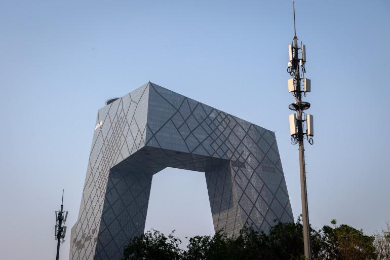Une antenne-relais 5G en Chine