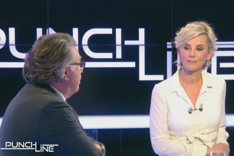 """Gilbert Collard et Laurence Ferrari sur le plateau de """"Punchline"""", le 22 janvier"""