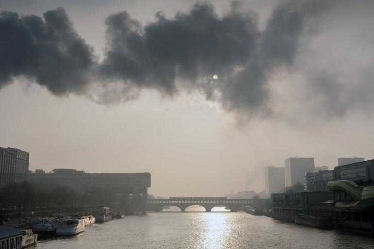 Pollution de l'air à Paris, le 23 janvier 2017