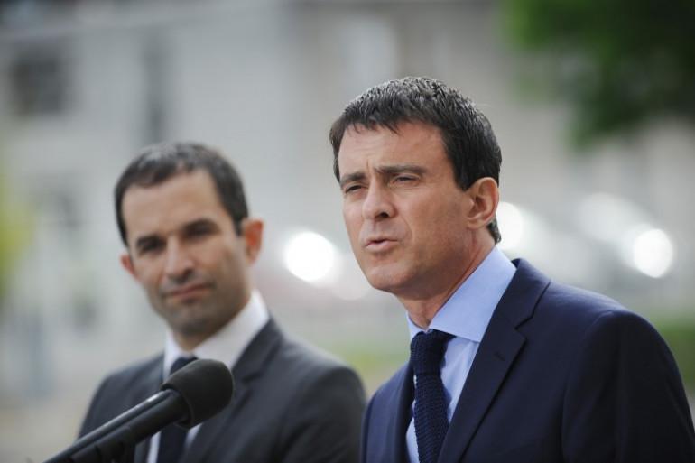 Benoît Hamon et Manuel Valls, le 23 juin 2014