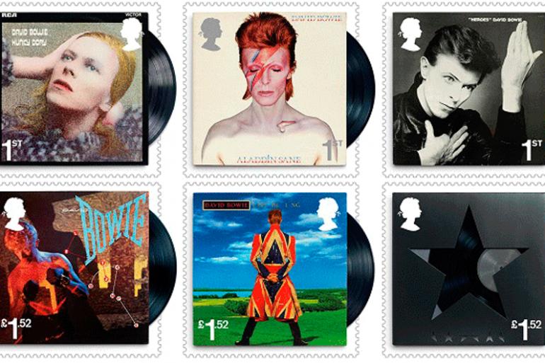 Le Royal Mail dévoile une série de 10 timbres en homage à David Bowie