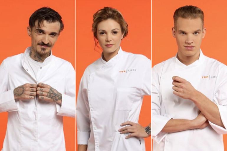 """Trois des nouveaux candidats de """"Top Chef"""" sur M6"""
