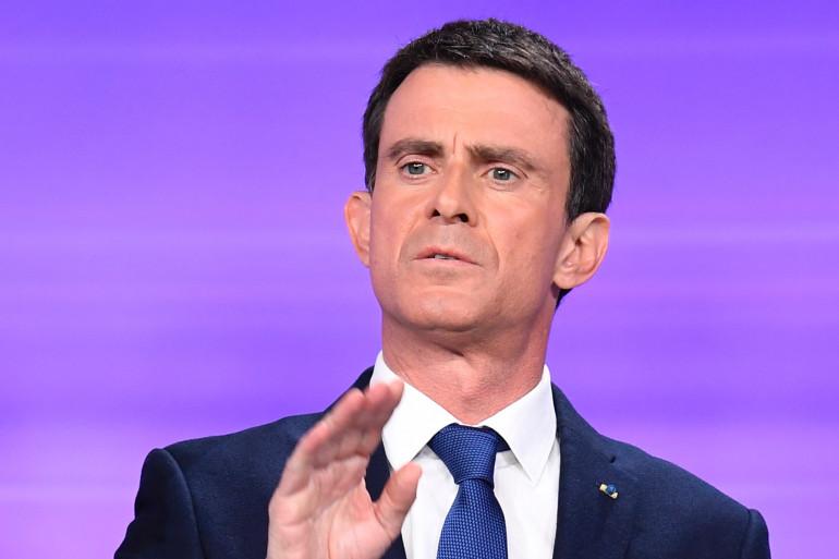 Manuel Valls, lors du débat de l'entre-deux tours le 25 janvier 2017