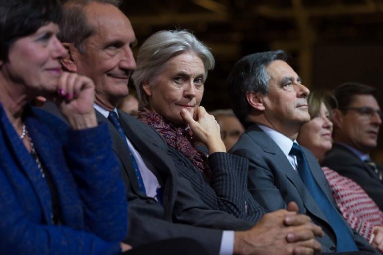Pénélope Fillon et son époux à paris, le 25 novembre 2016