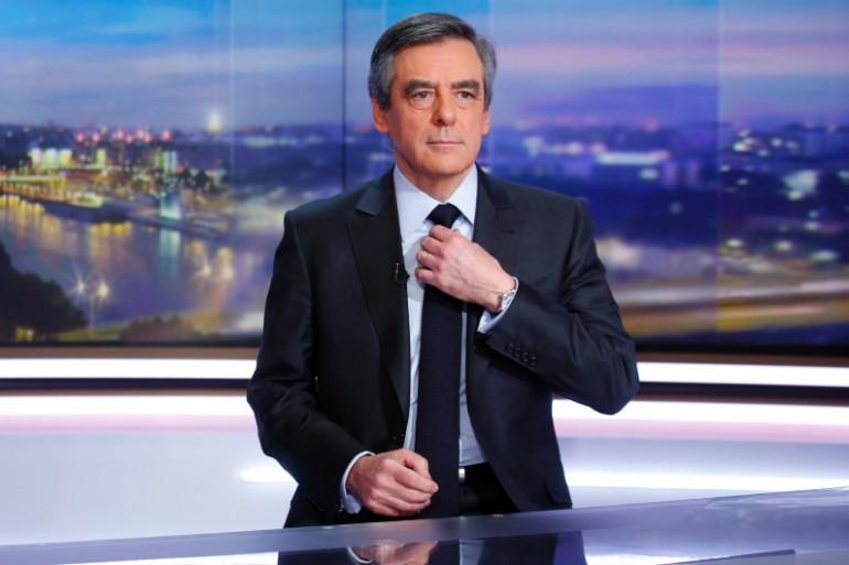 François Fillon sur le plateau du JT de TF1, le 26 janvier 2017