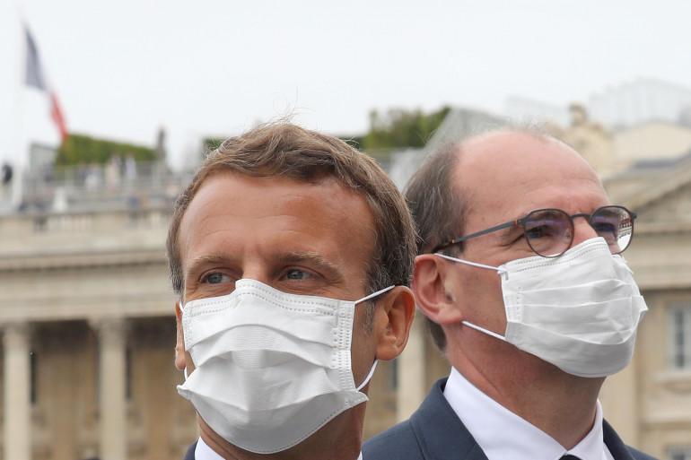 Le président Emmanuel Macron et le Premier ministre Jean Castex, le 14 juillet 2020 à Paris.